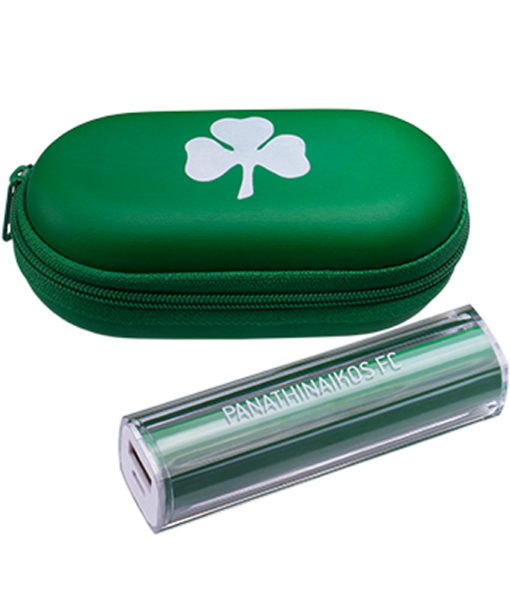 "Power Bank ""Panathinaikos FC"" & Θήκη (Οβάλ)"